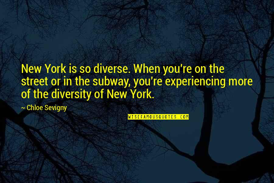 Subway Quotes By Chloe Sevigny: New York is so diverse. When you're on