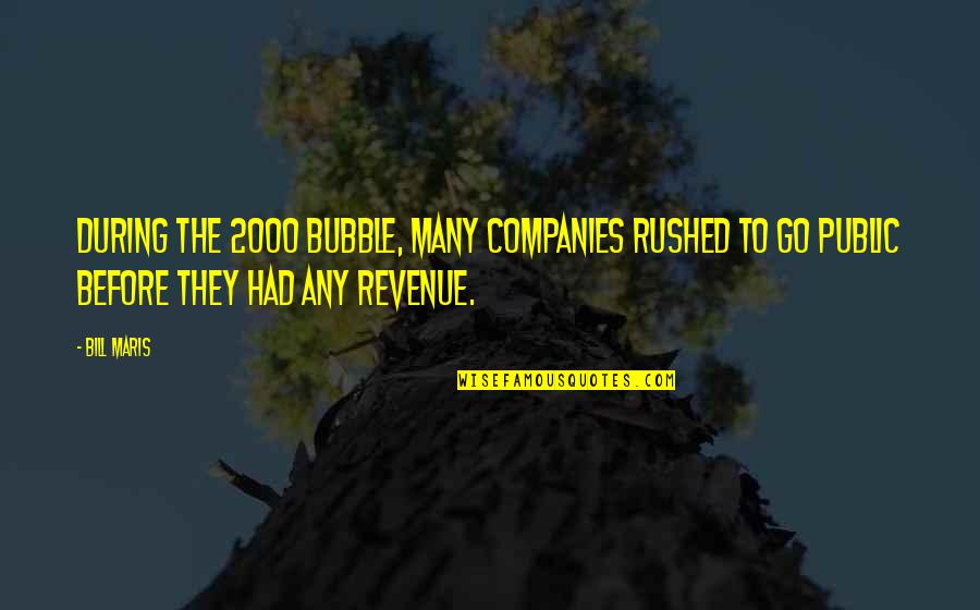 Succeeding Goals Quotes By Bill Maris: During the 2000 bubble, many companies rushed to