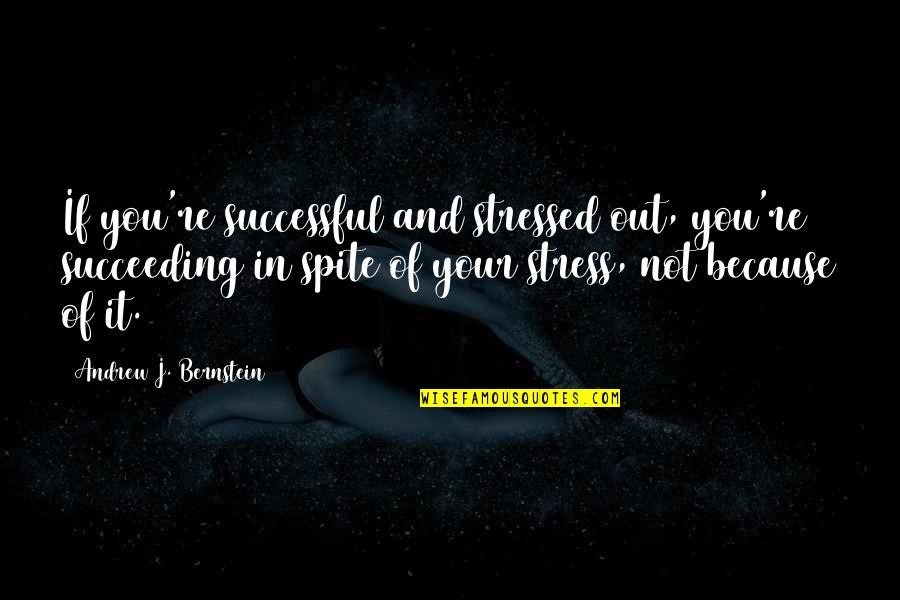 Succeeding Quotes By Andrew J. Bernstein: If you're successful and stressed out, you're succeeding