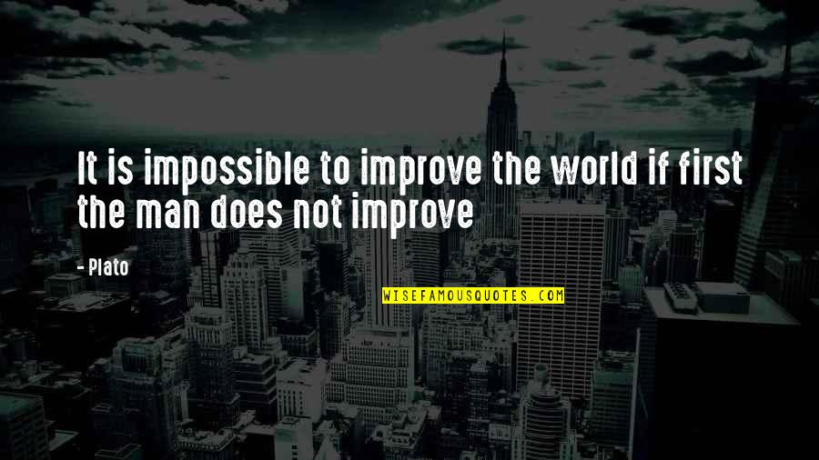 Succesion Quotes By Plato: It is impossible to improve the world if
