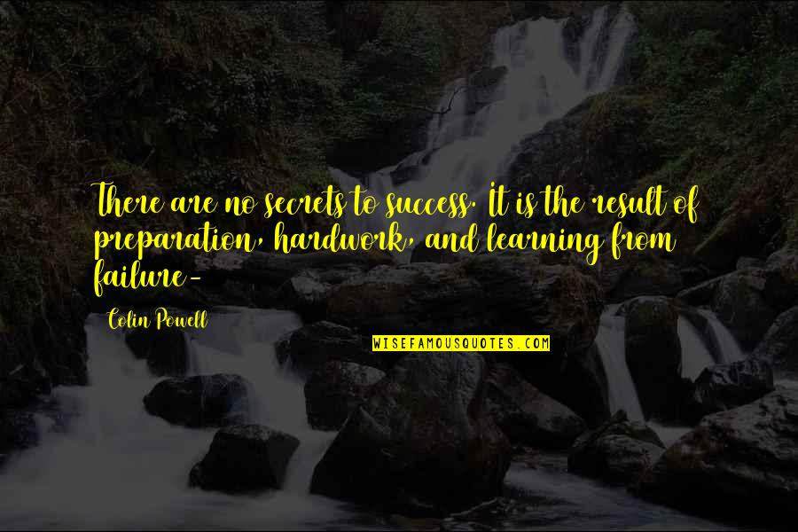 Success And Learning Quotes By Colin Powell: There are no secrets to success. It is