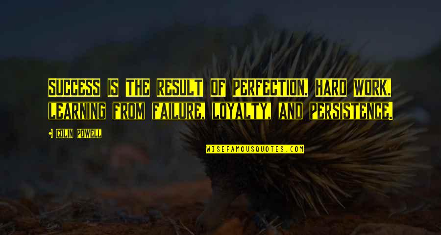 Success And Learning Quotes By Colin Powell: Success is the result of perfection, hard work,