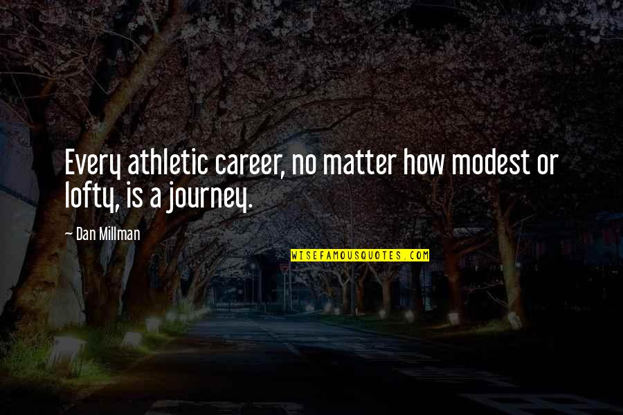 Success In Sports Quotes By Dan Millman: Every athletic career, no matter how modest or