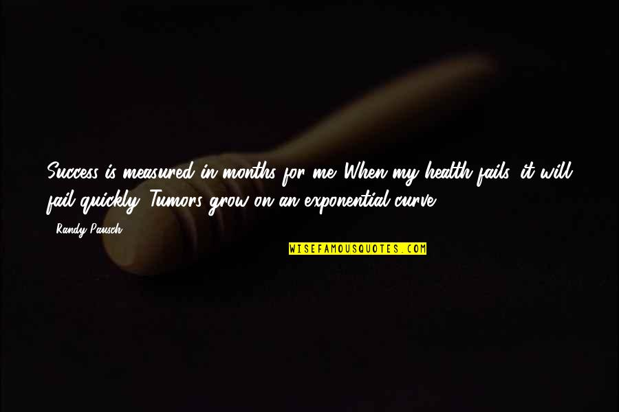 Success Is Not Measured Quotes By Randy Pausch: Success is measured in months for me. When