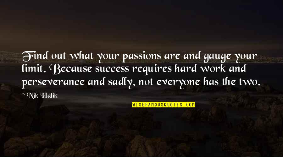 Success Requires Hard Work Quotes By Nik Halik: Find out what your passions are and gauge