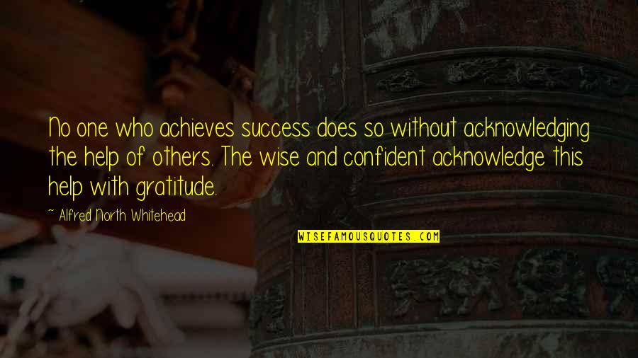 Success With The Help Of Others Quotes By Alfred North Whitehead: No one who achieves success does so without