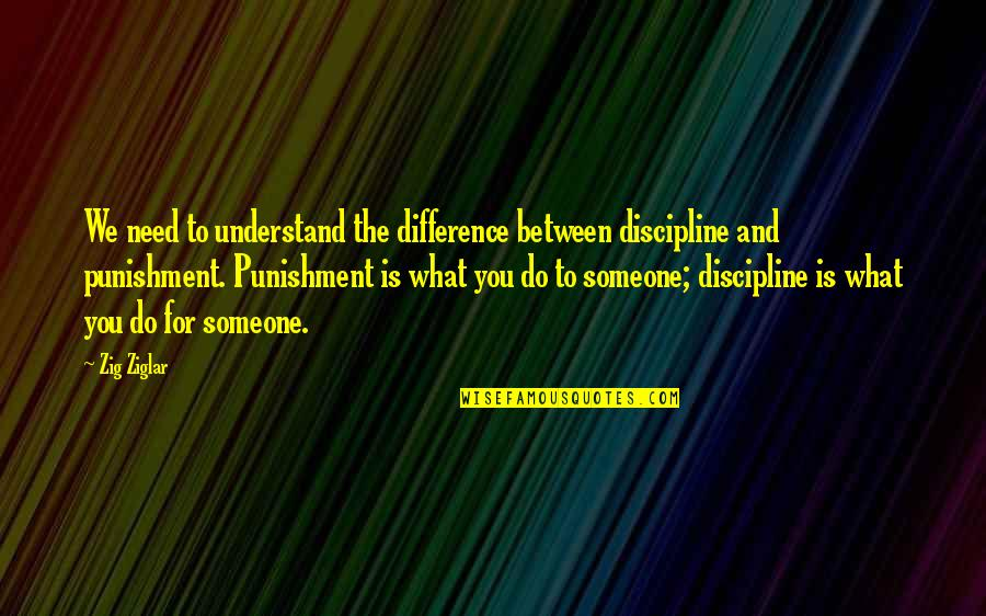 Successful Business Woman Quotes By Zig Ziglar: We need to understand the difference between discipline