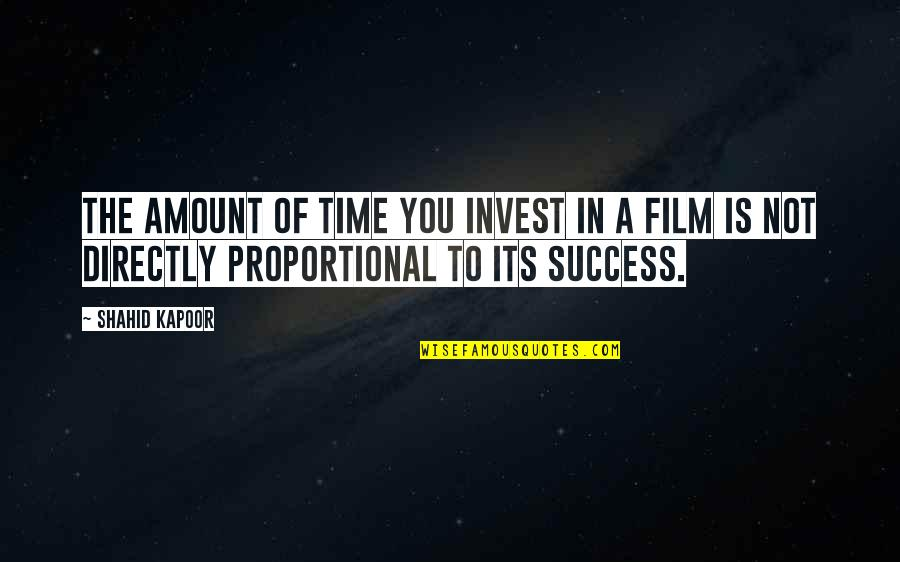 Suddenly It's Magic Quotes By Shahid Kapoor: The amount of time you invest in a