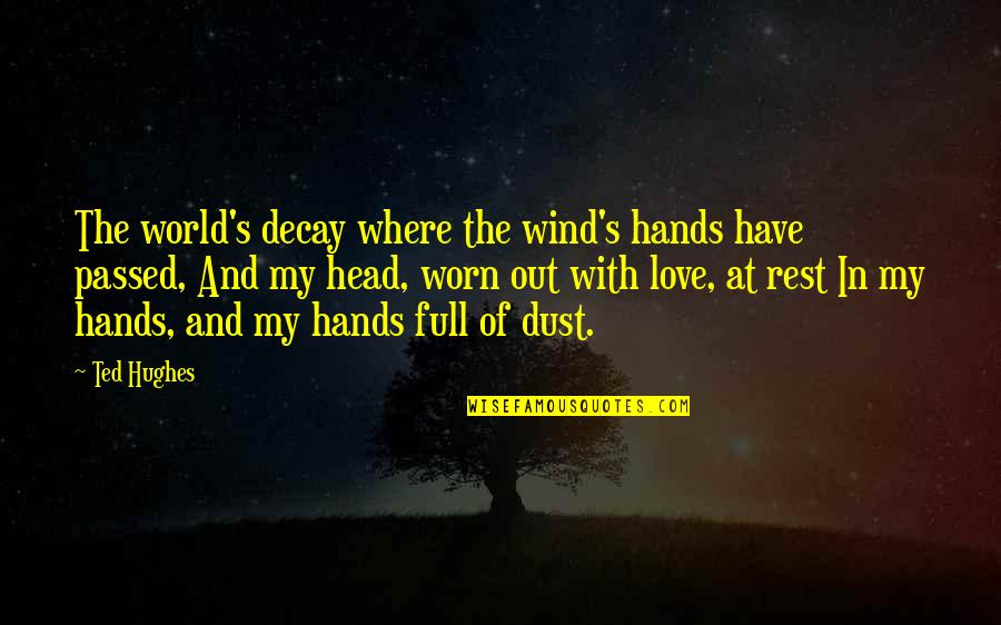 Sudhanshu Ji Quotes By Ted Hughes: The world's decay where the wind's hands have