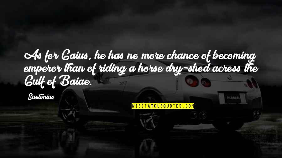 Suetonius Quotes By Suetonius: As for Gaius, he has no more chance