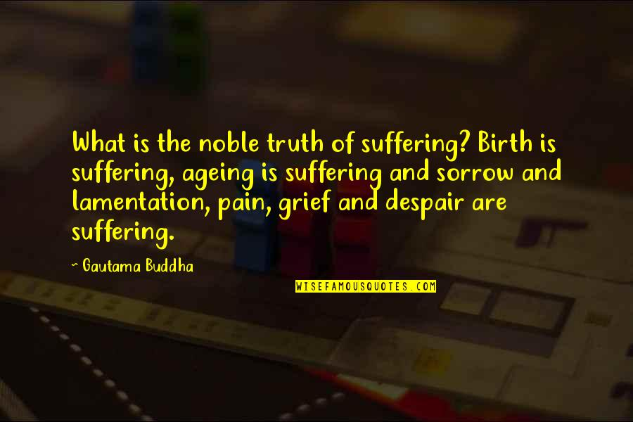 Suffering Buddha Quotes By Gautama Buddha: What is the noble truth of suffering? Birth