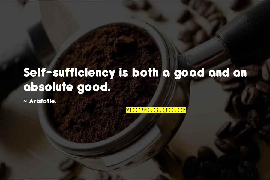 Sufficiency Quotes By Aristotle.: Self-sufficiency is both a good and an absolute
