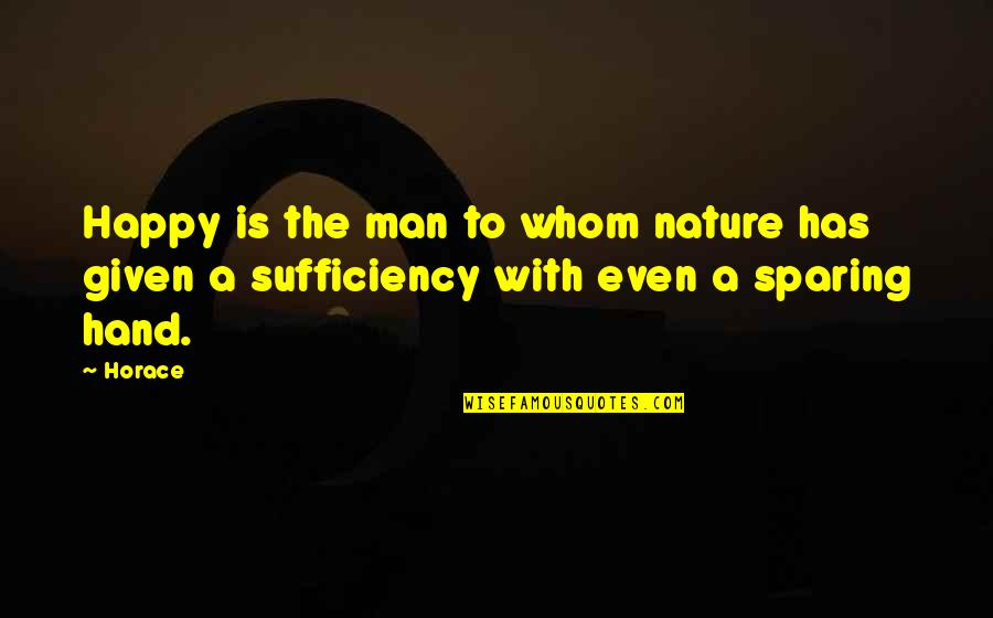 Sufficiency Quotes By Horace: Happy is the man to whom nature has