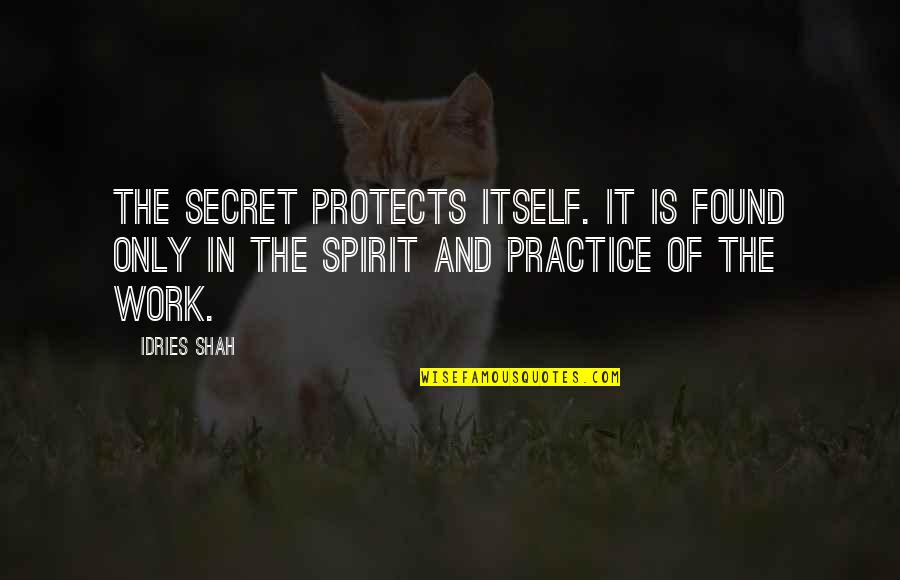 Sufism Quotes By Idries Shah: The secret protects itself. It is found only