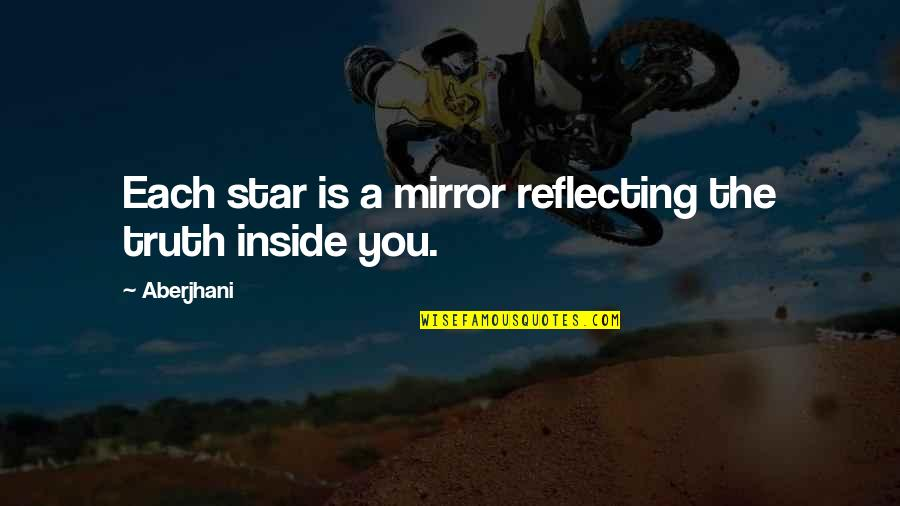 Suicide Prevention Day Quotes By Aberjhani: Each star is a mirror reflecting the truth