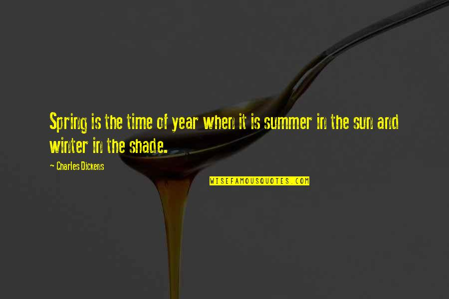 Summer And Spring Quotes By Charles Dickens: Spring is the time of year when it