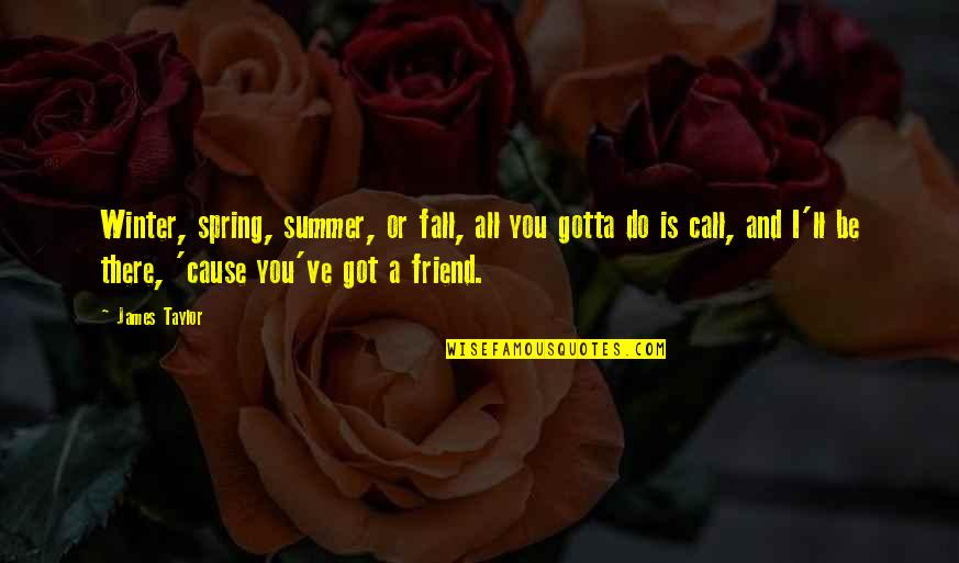 Summer And Spring Quotes By James Taylor: Winter, spring, summer, or fall, all you gotta