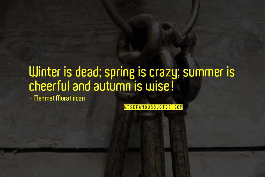 Summer And Spring Quotes By Mehmet Murat Ildan: Winter is dead; spring is crazy; summer is