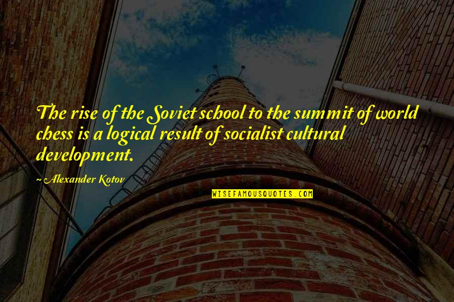 Summit's Quotes By Alexander Kotov: The rise of the Soviet school to the