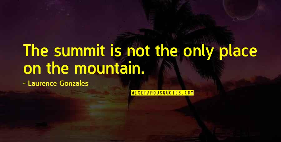 Summit's Quotes By Laurence Gonzales: The summit is not the only place on