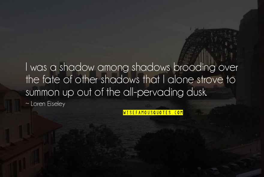 Summon Quotes By Loren Eiseley: I was a shadow among shadows brooding over