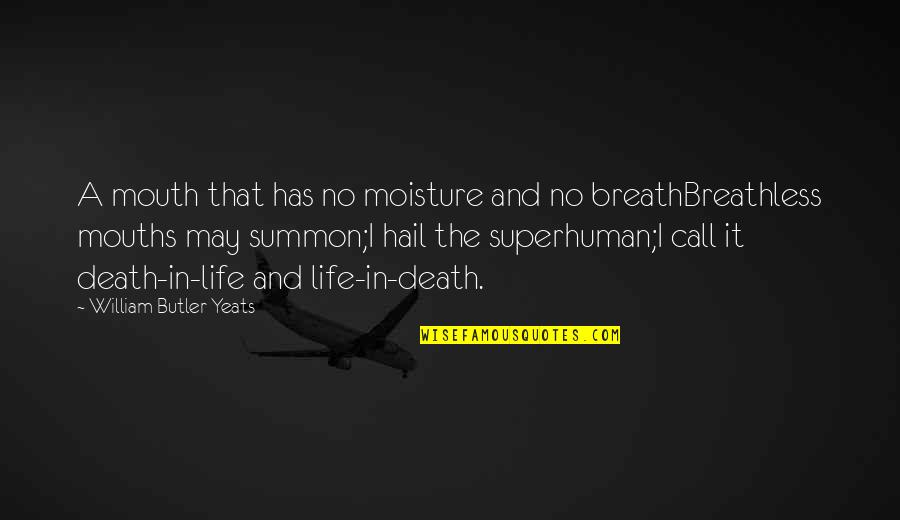 Summon Quotes By William Butler Yeats: A mouth that has no moisture and no