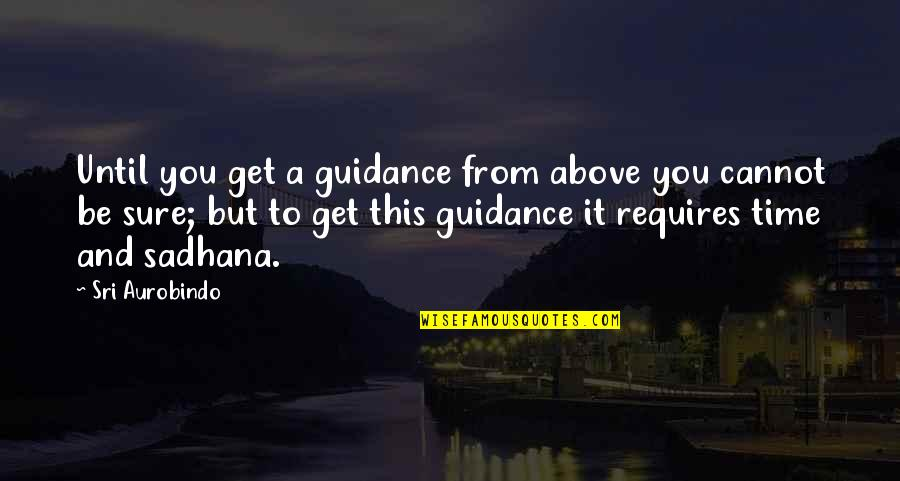 Sundar Marathi Quotes By Sri Aurobindo: Until you get a guidance from above you