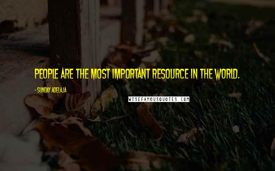 Sunday Adelaja quotes: People are the most important resource in the world.