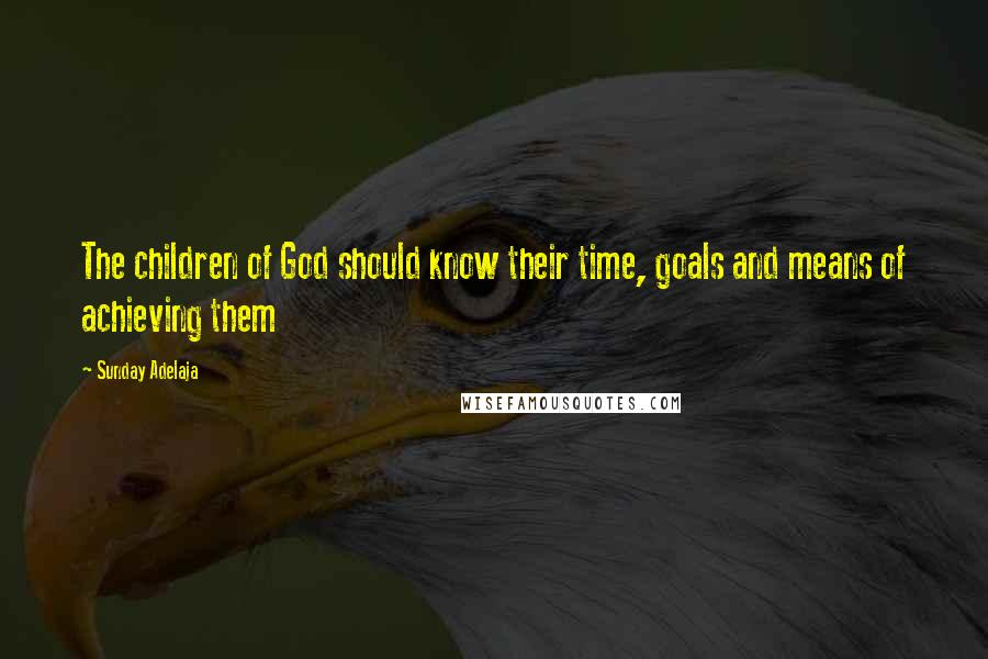 Sunday Adelaja quotes: The children of God should know their time, goals and means of achieving them