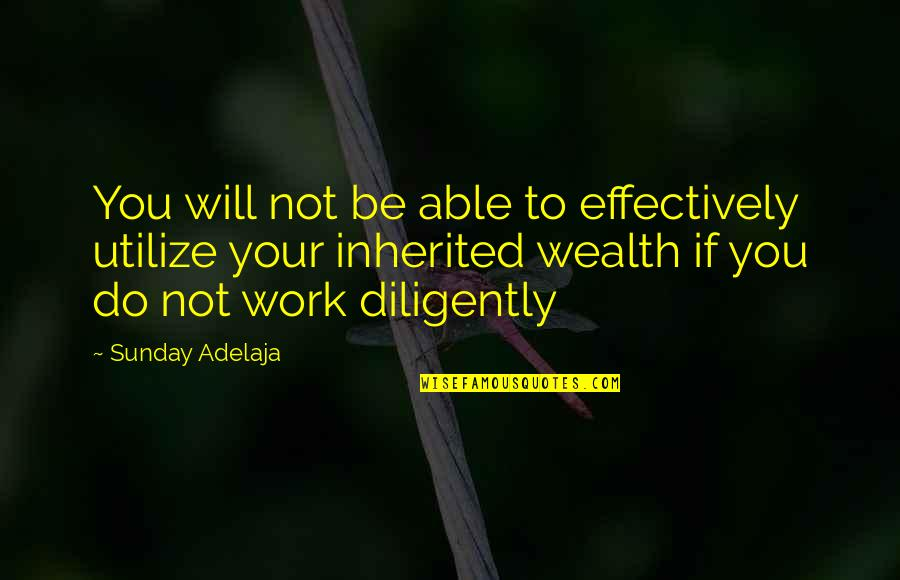 Sunday Quotes By Sunday Adelaja: You will not be able to effectively utilize
