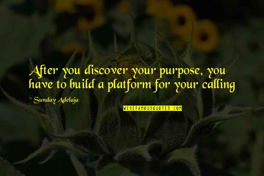Sunday Quotes By Sunday Adelaja: After you discover your purpose, you have to