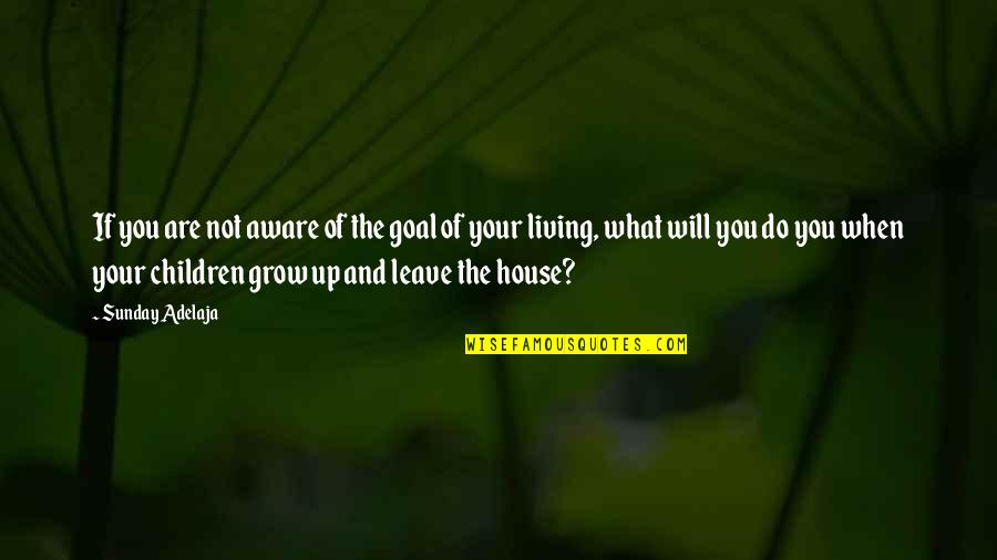 Sunday Quotes By Sunday Adelaja: If you are not aware of the goal