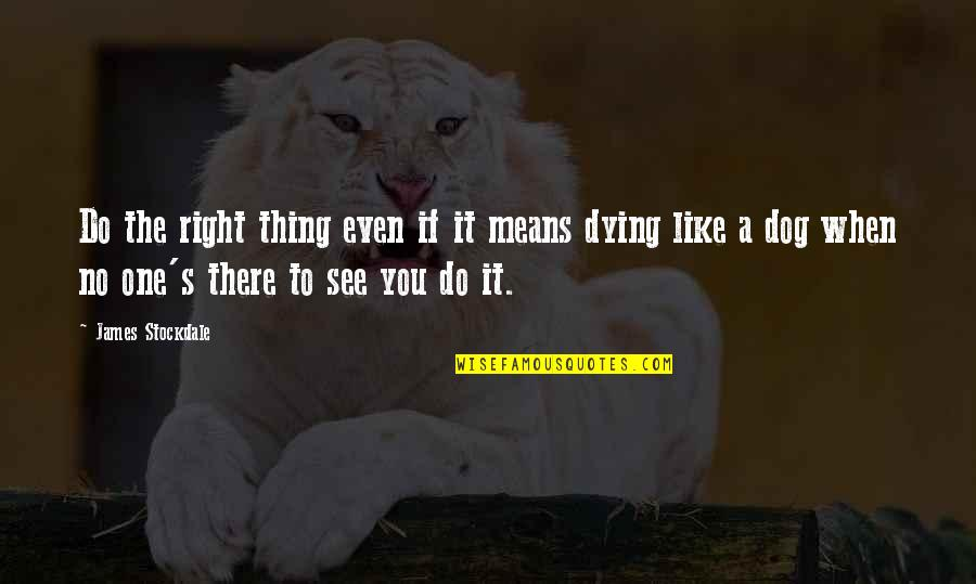 Sunes Jul Quotes By James Stockdale: Do the right thing even if it means