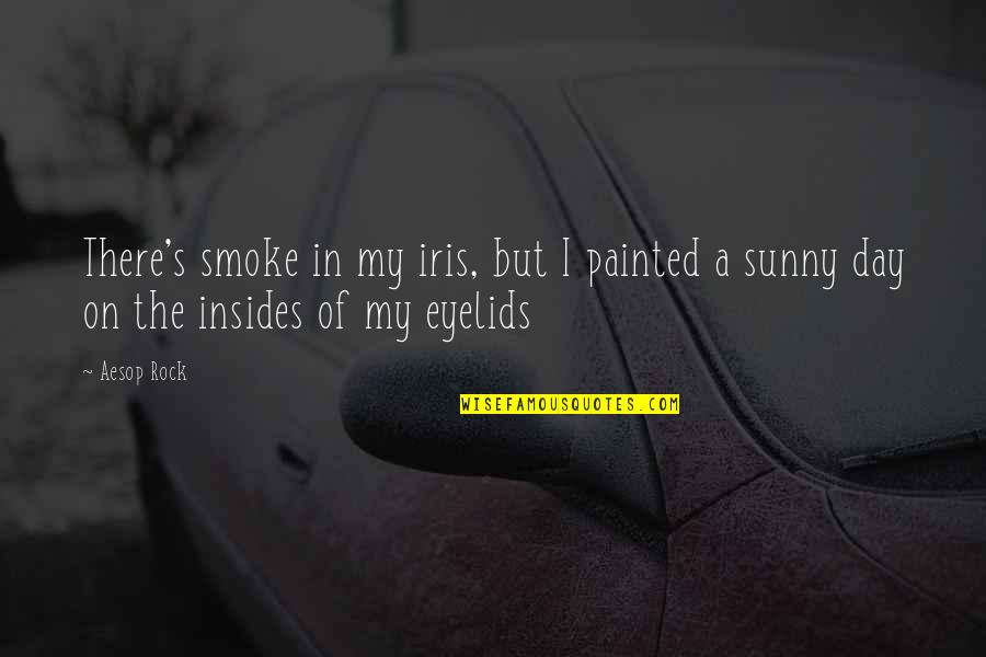 Sunny Day Quotes By Aesop Rock: There's smoke in my iris, but I painted