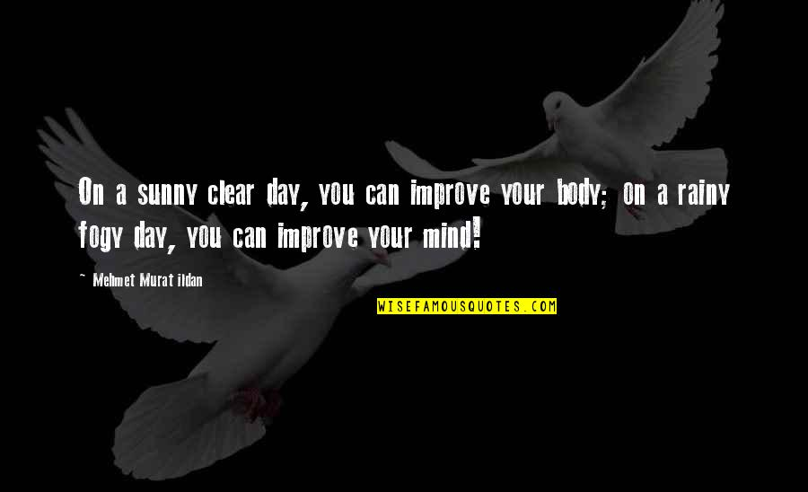 Sunny Day Quotes By Mehmet Murat Ildan: On a sunny clear day, you can improve