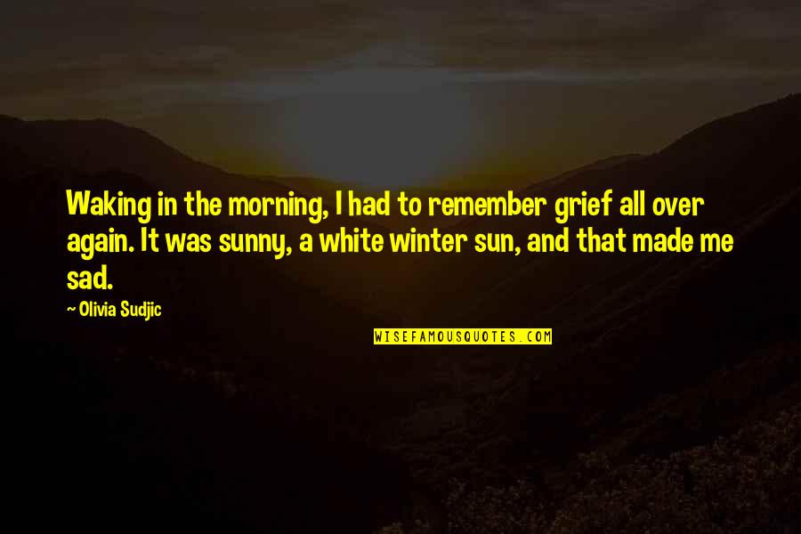Sunny Winter Quotes By Olivia Sudjic: Waking in the morning, I had to remember