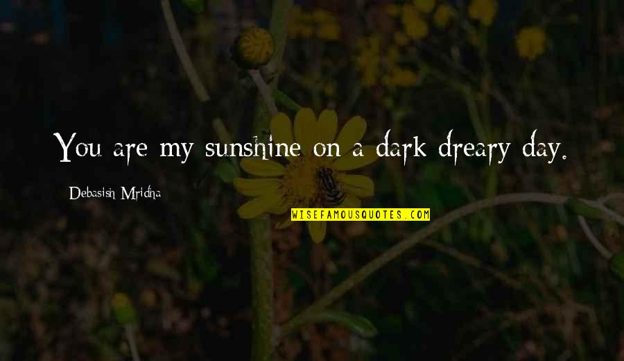 Sunshine Quotes And Quotes By Debasish Mridha: You are my sunshine on a dark dreary