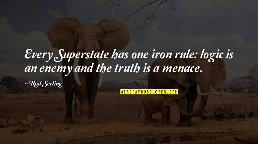 Superstate Quotes By Rod Serling: Every Superstate has one iron rule: logic is