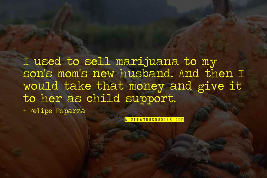 Support My Husband Quotes By Felipe Esparza: I used to sell marijuana to my son's