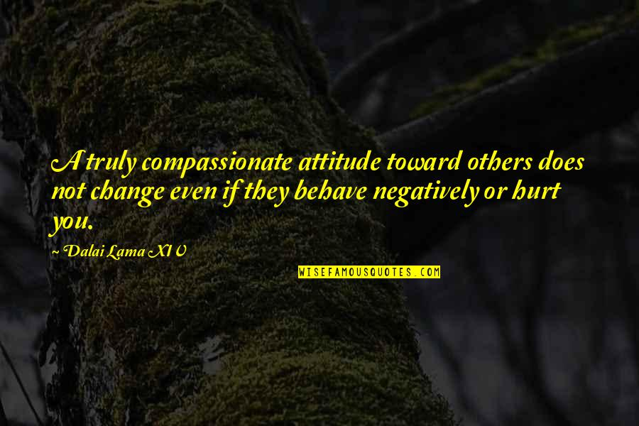 Surname Quotes By Dalai Lama XIV: A truly compassionate attitude toward others does not