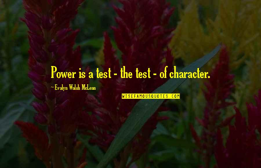 Survival Hunger Games Quotes By Evalyn Walsh McLean: Power is a test - the test -