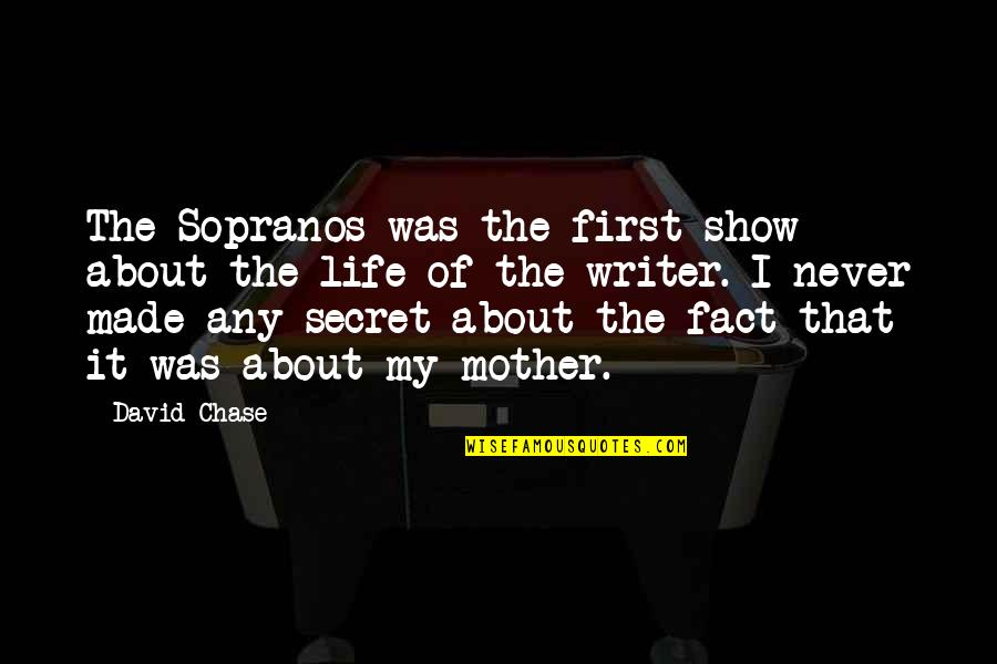 Suspendered Quotes By David Chase: The Sopranos was the first show about the