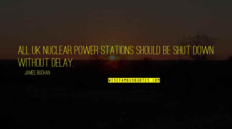 Swami Niranjan Quotes By James Buchan: All UK nuclear power stations should be shut