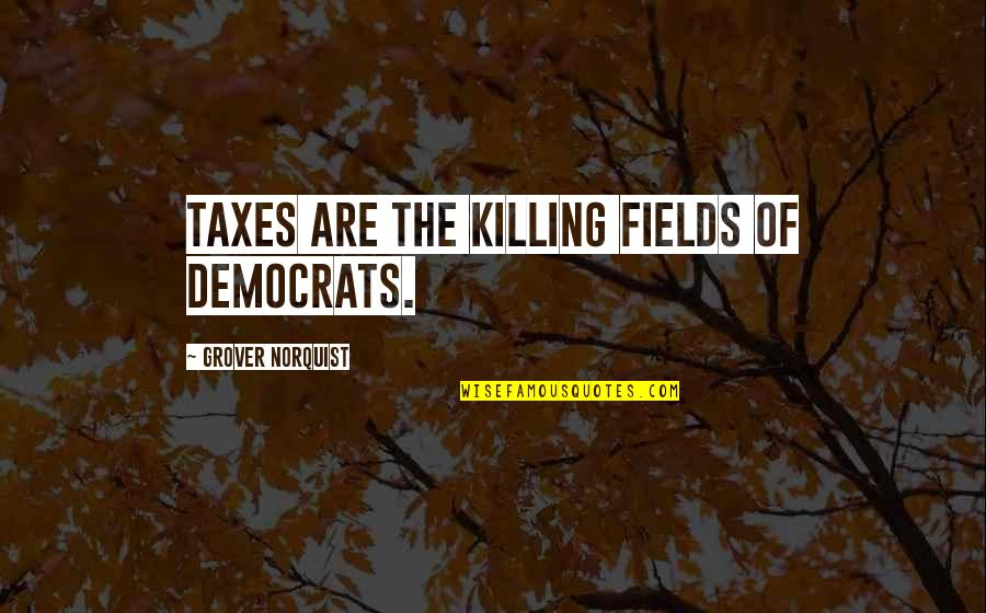 Swan Queen Quotes By Grover Norquist: Taxes are the killing fields of Democrats.