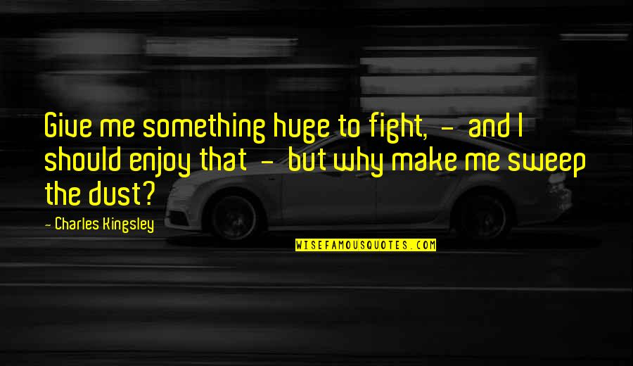 Sweep Quotes By Charles Kingsley: Give me something huge to fight, - and