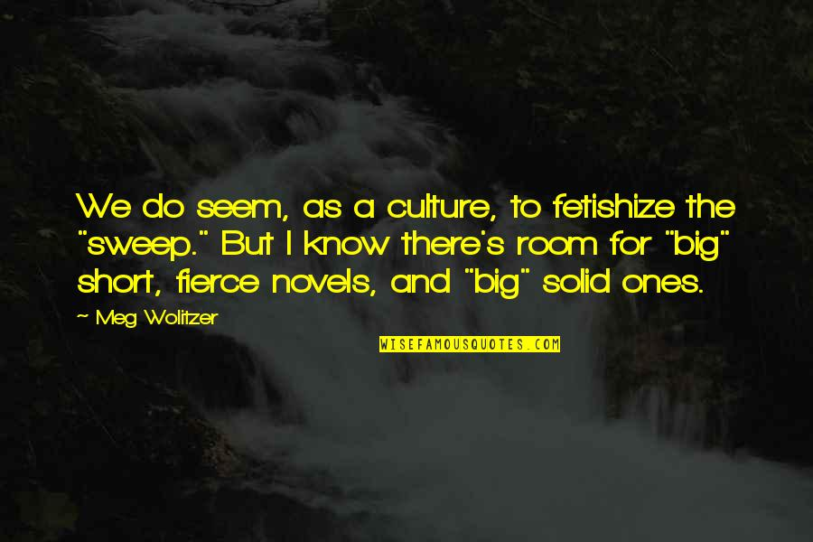 Sweep Quotes By Meg Wolitzer: We do seem, as a culture, to fetishize