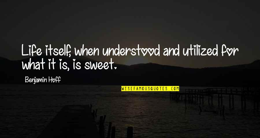 Sweet And Life Quotes By Benjamin Hoff: Life itself, when understood and utilized for what