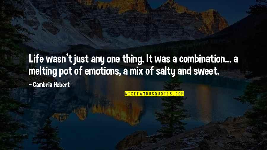 Sweet And Life Quotes By Cambria Hebert: Life wasn't just any one thing. It was