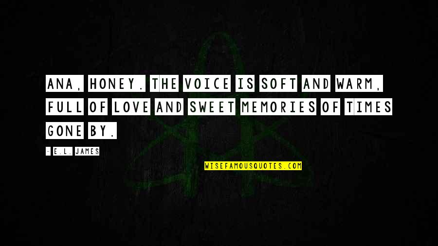 Sweet Love Memories Quotes By E.L. James: Ana, honey. The voice is soft and warm,