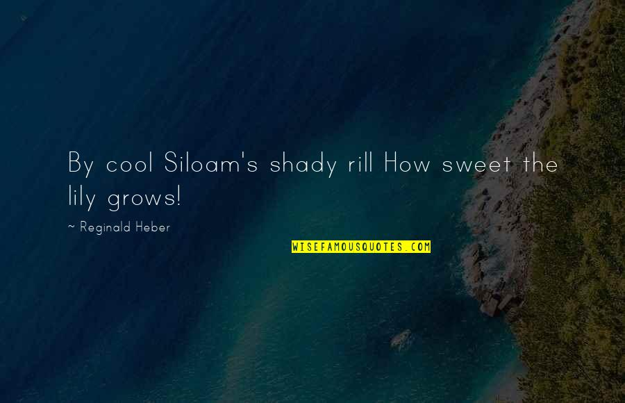 Sweet'st Quotes By Reginald Heber: By cool Siloam's shady rill How sweet the